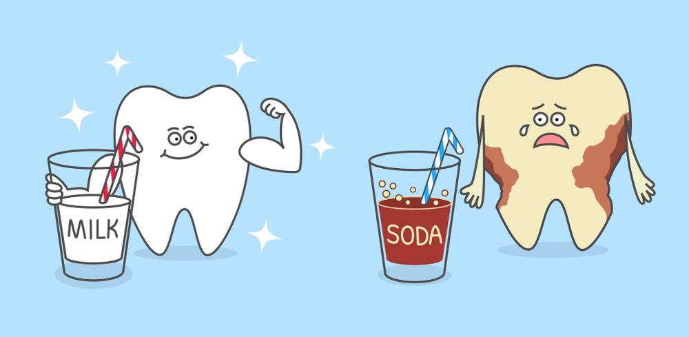 Как сладкие напитки и соки влияют на эмаль ребенка?
